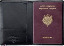 S.T. Dupont Line D Passport Cover - Black Elysée  180012