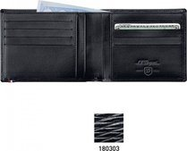 Line D Wallet for Credit Cards And Identity Papers – Black Contraste
