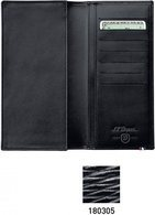Line D Long Wallet, Space For Credit Cards – Black Contraste